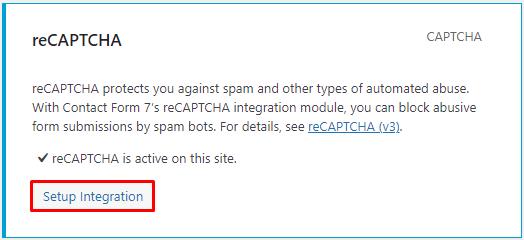 WordPress plugin reCAPTCHA setup integration steps.