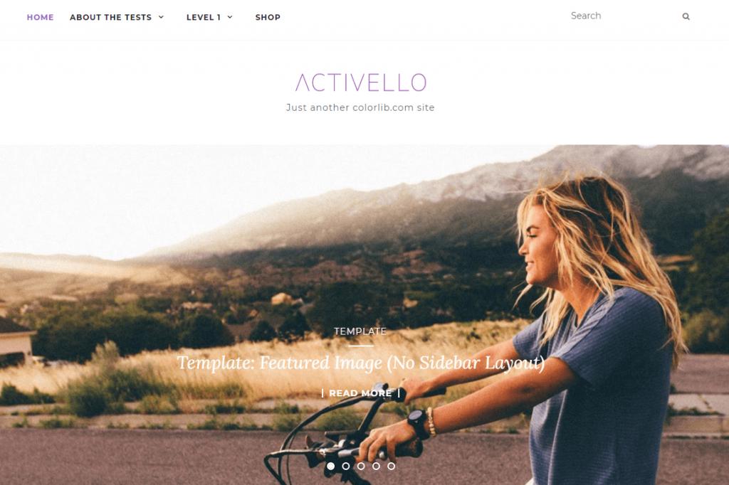 Activello theme
