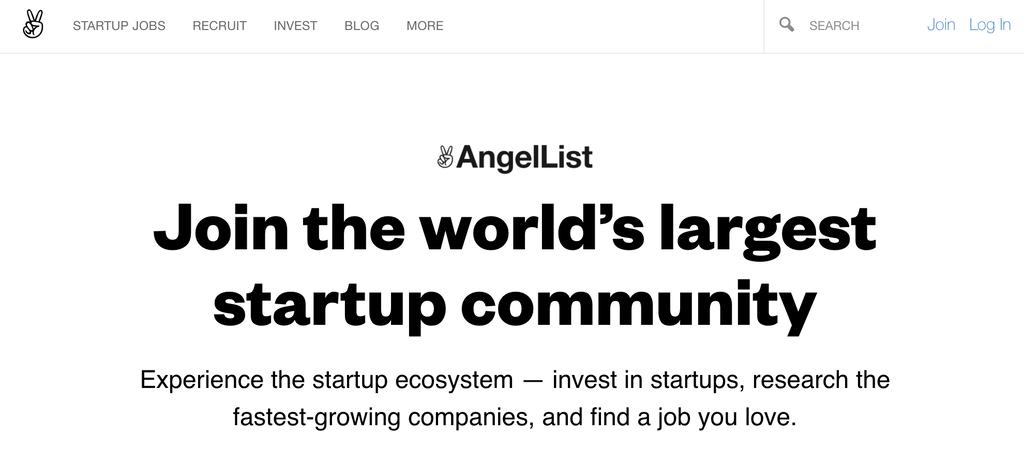 Job board website AngelList