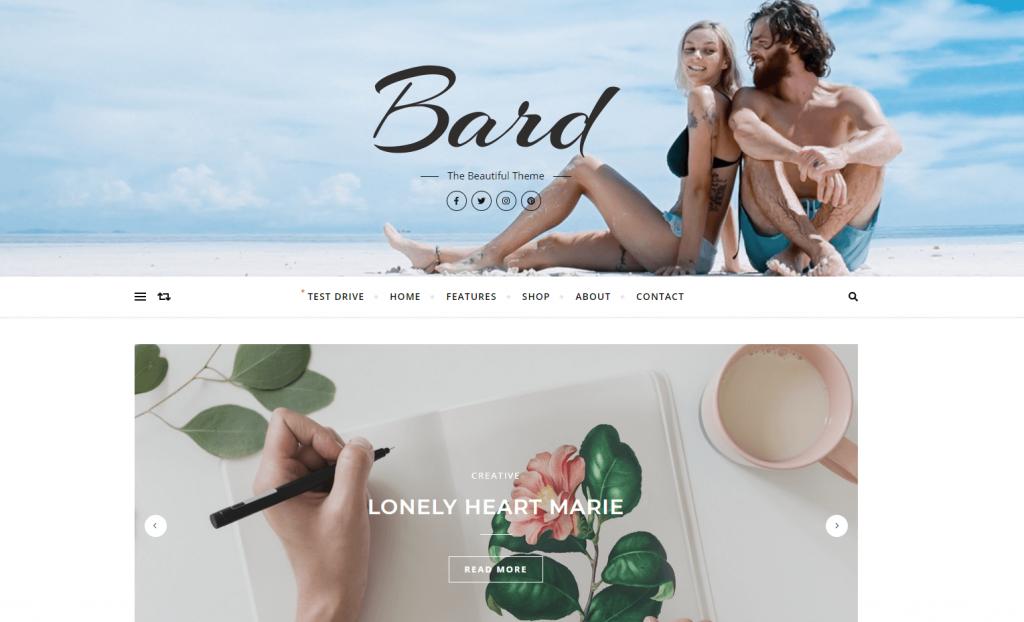 Bard blog theme