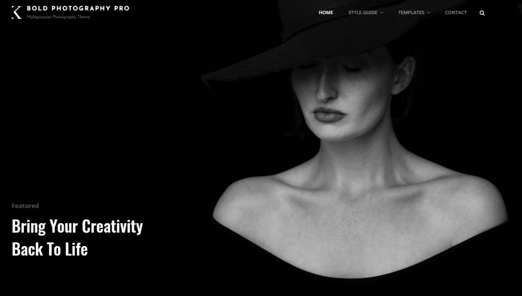Bold Photography portfolio theme