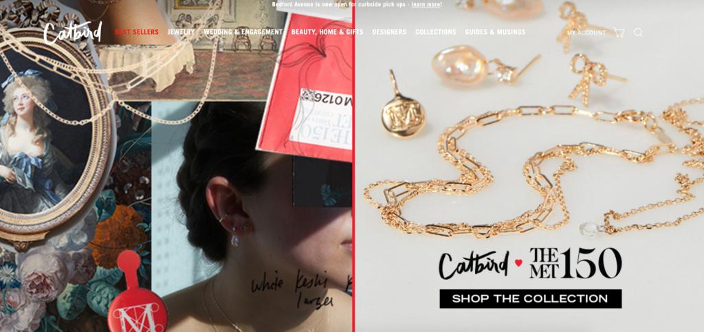 Screenshot of Catbird's homepage