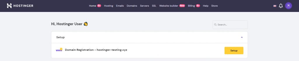 Hostinger's domain setup