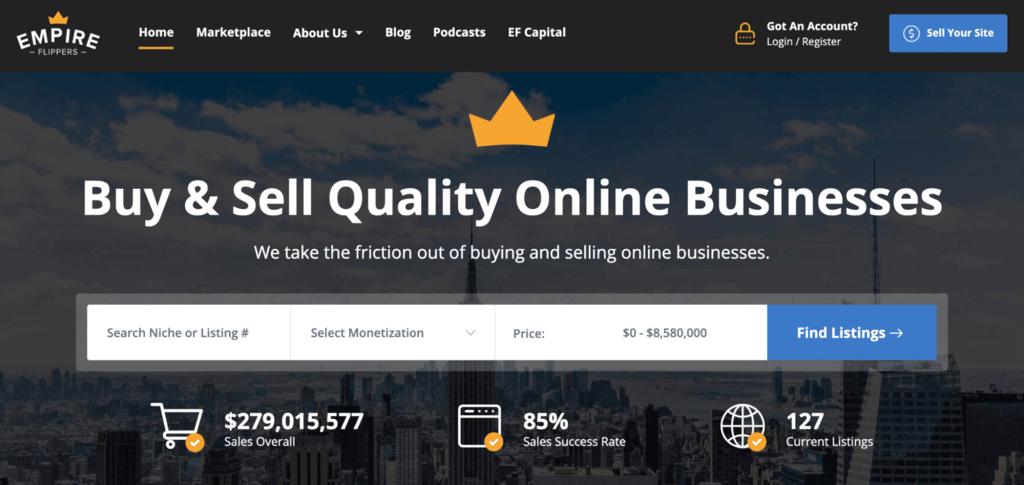 Website broker Empire Flippers