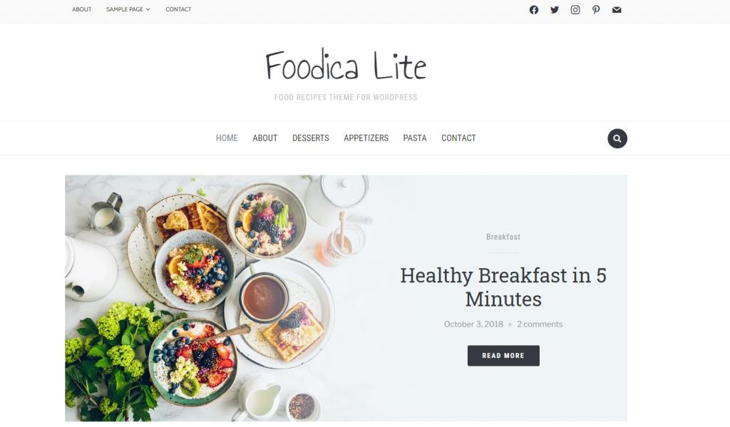 Foodica theme