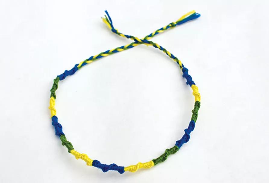 Picture of a friendship bracelet.