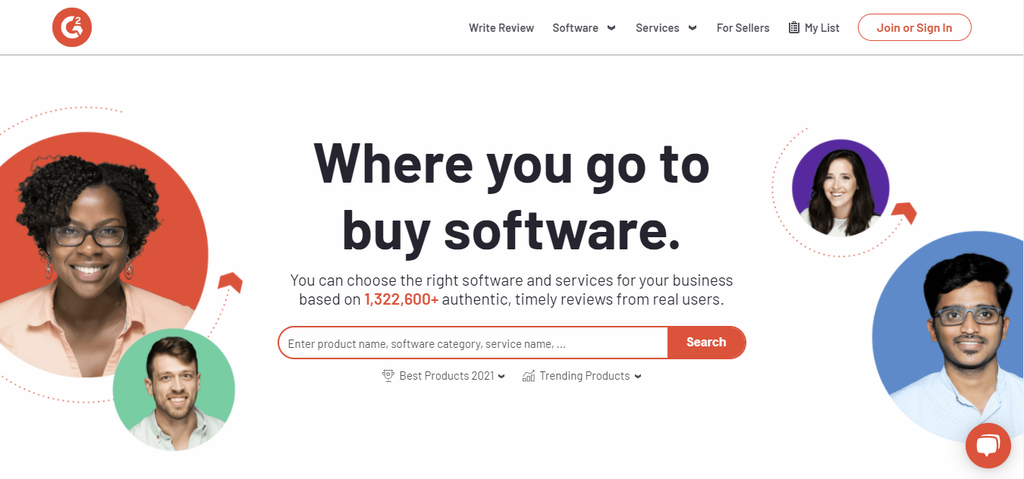 Product review website G2