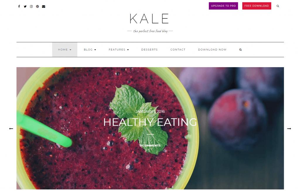 Kale food blog theme