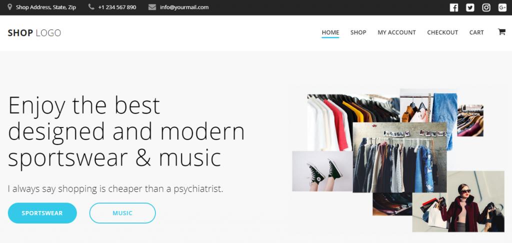 Mesmerize eCommerce demo site