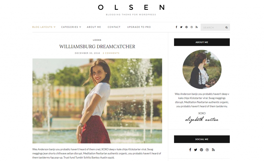 Olsen demo site