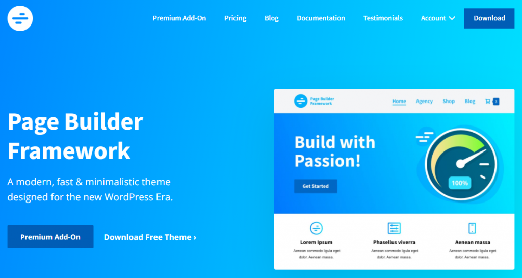 Page Builder Framework theme