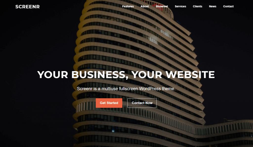 Screenr business theme