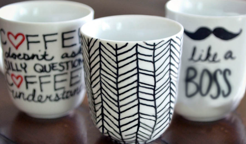 Picture of sharpie mugs.