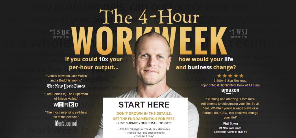 Self-help blog The 4-hour Workweek