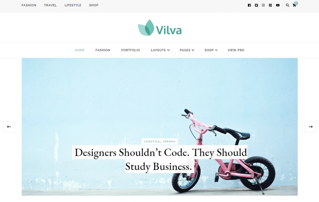 Vilva blog theme