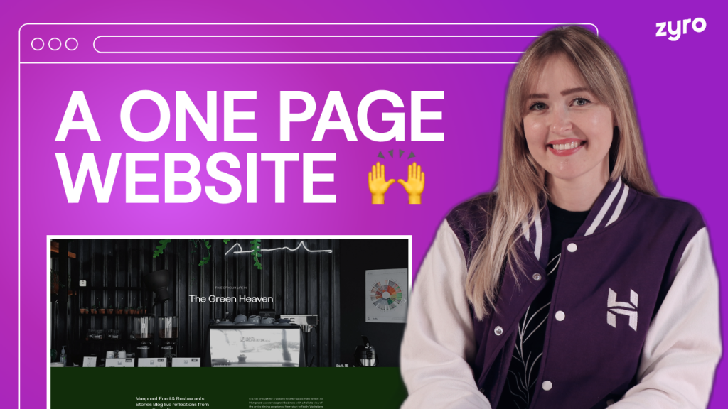 Create a One Page Website in Less Than 10 Minutes! | Beginner Tutorial