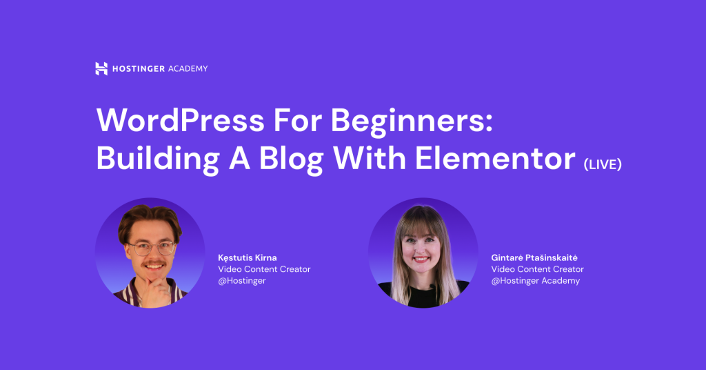 WordPress for Beginners: Building a Blog With Elementor (Live Stream)