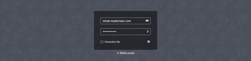 Cyberpanel webmail logins