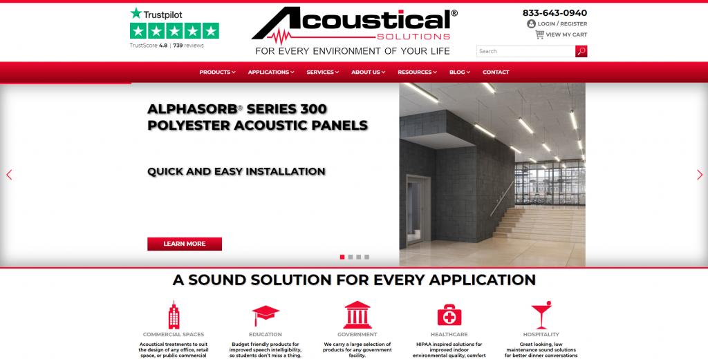 Acoustical Solutions WooCommerce shop