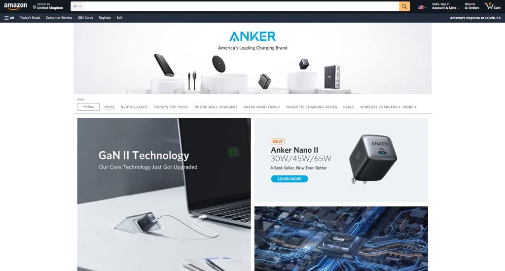 Amazon shop Anker