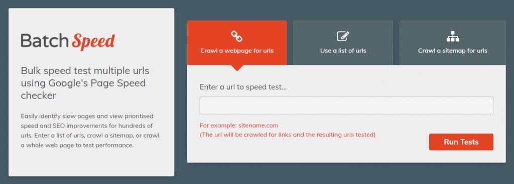 Bulk speed test tool