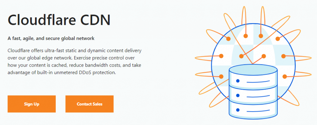 Cloudflare CDN's homepage
