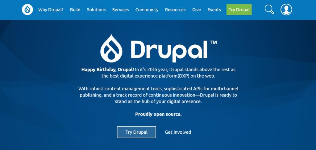 Drupal, the free CMS.