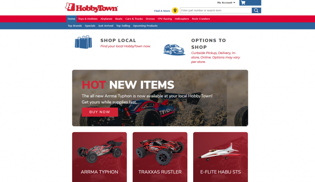 HobbyTown collectibles shop