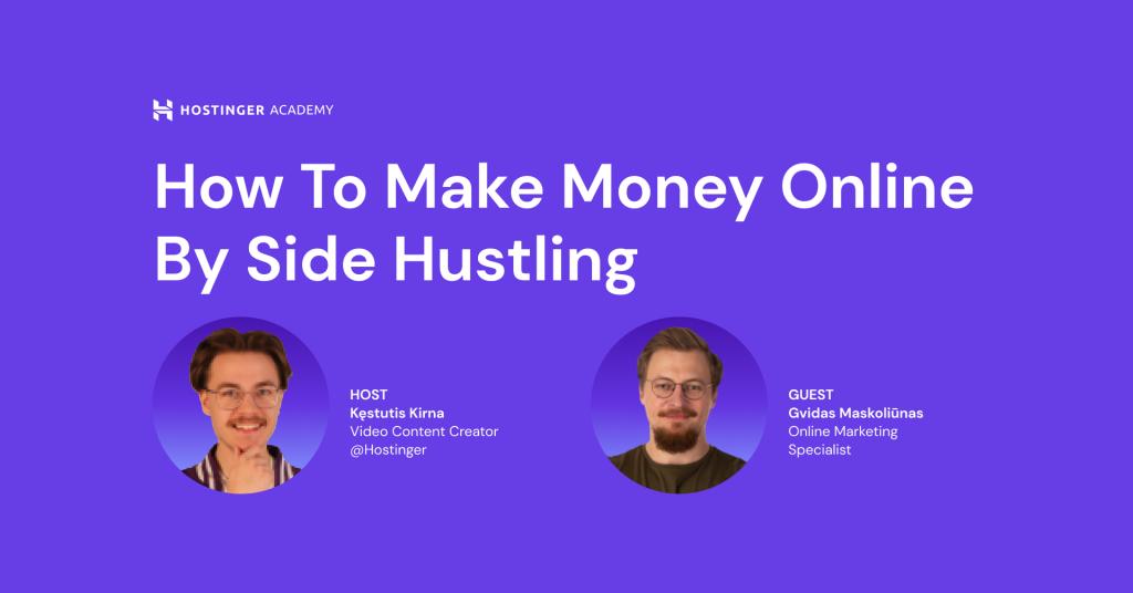 How to Make Money Online Through Side Hustles