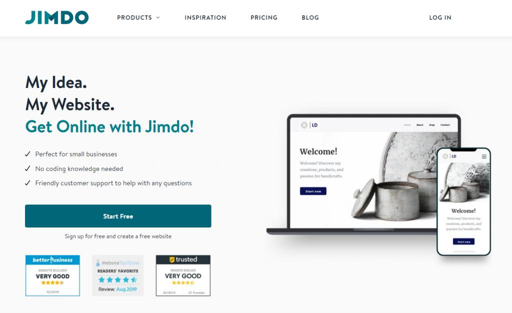 Jimdo, the freemium website builder.