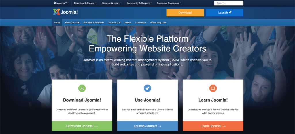 Joomla, the free self-hosted CMS.