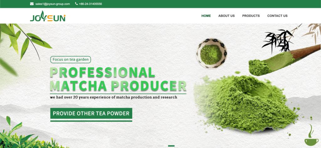 Screenshot showing matcha powder and where to buy it.