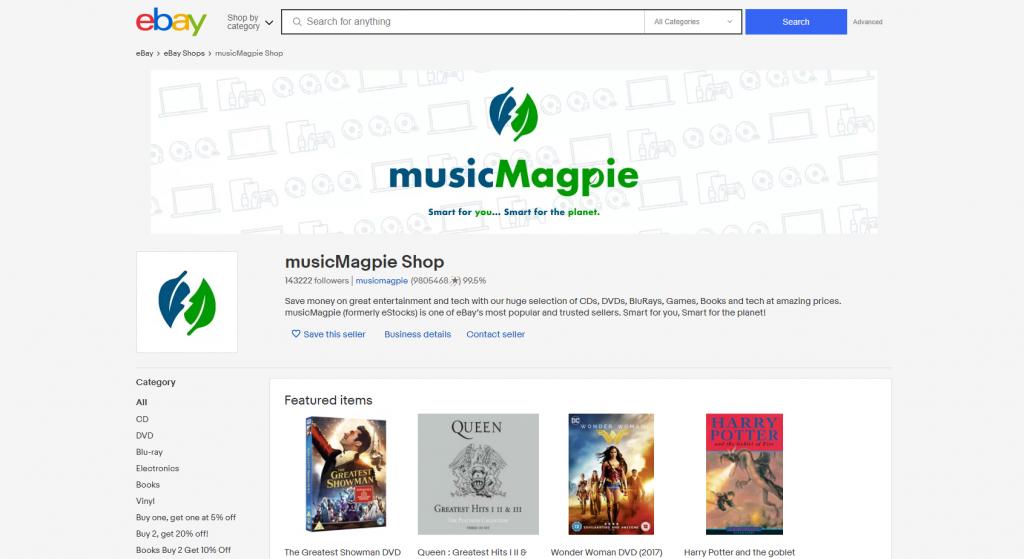 musicMagpie shop on eBay