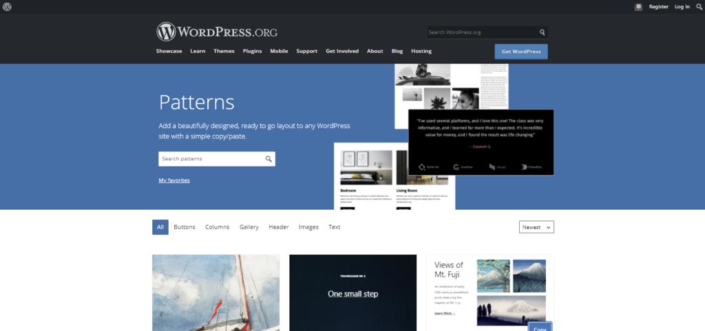 Screenshot showcasing the Pattern Directory