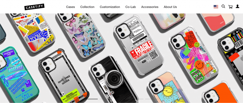 Screenshot showing a lot of phones cases.