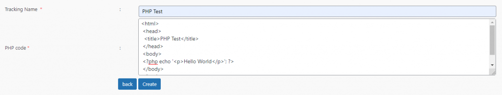 Adding a PHP code snippet in the Insert PHP Code Snippet plugin..