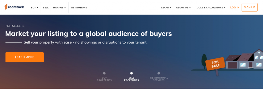 Roofstock landing page