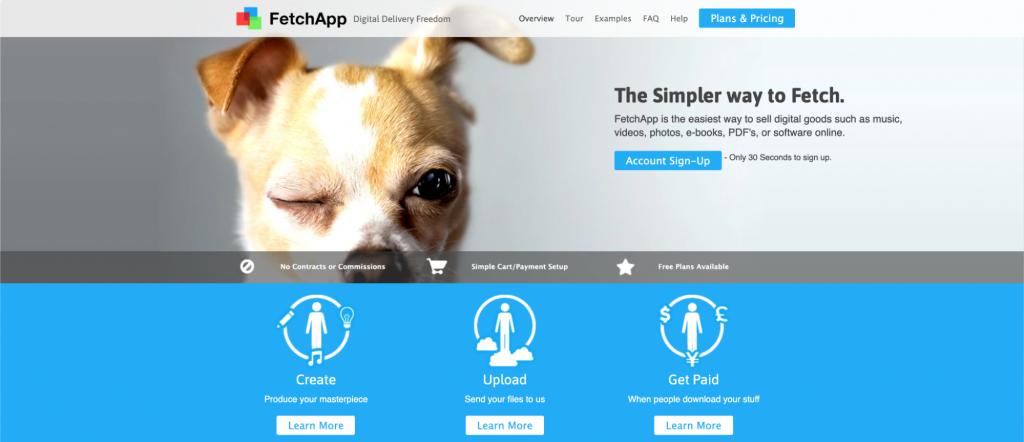 FetchApp homepage