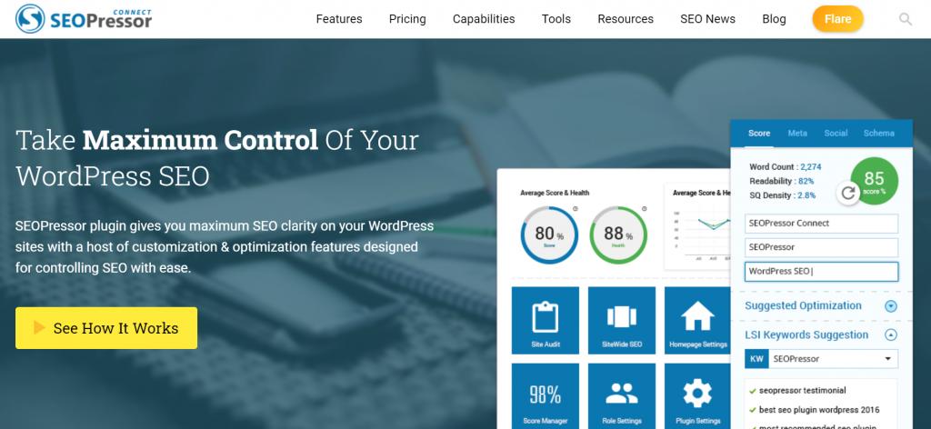 SEOPressor plugin homepage.