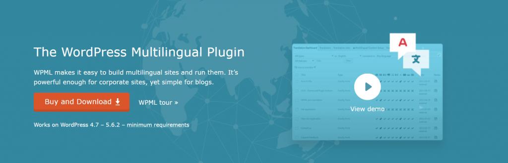 WPML plugin homepage.