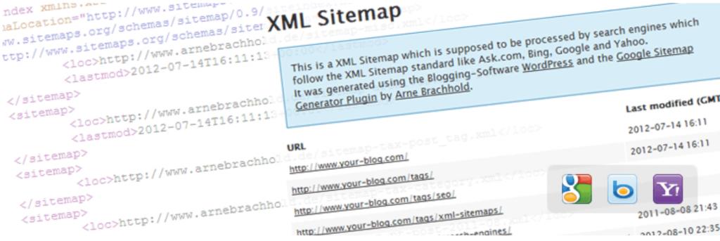 Google XML Sitemap plugin.