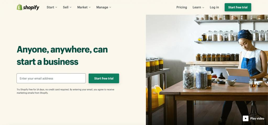Shopify, the premium CMS.