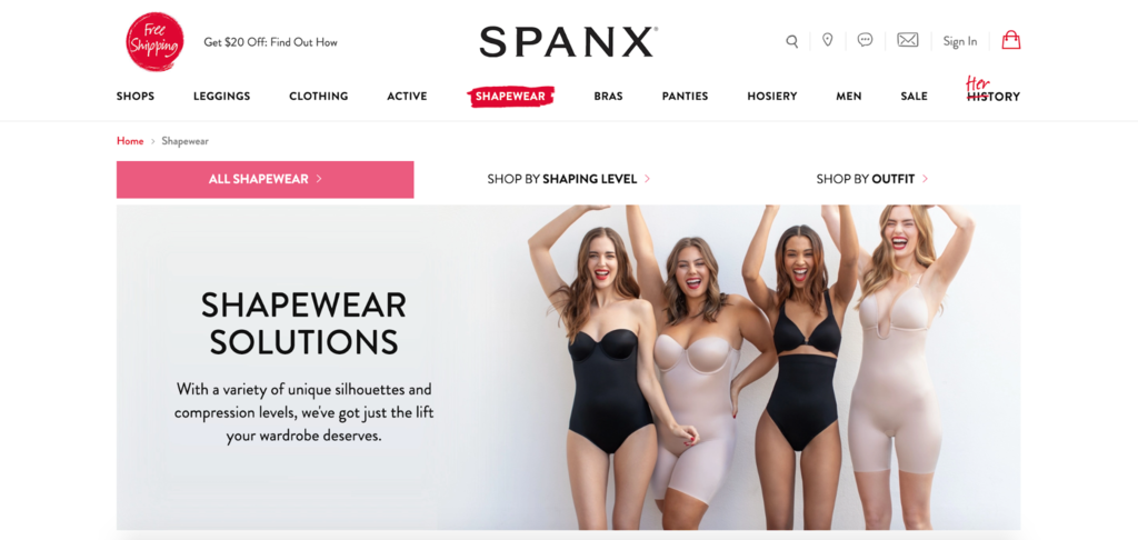 Spanx website