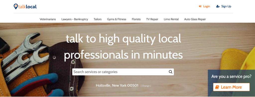 TalkLocal homepage