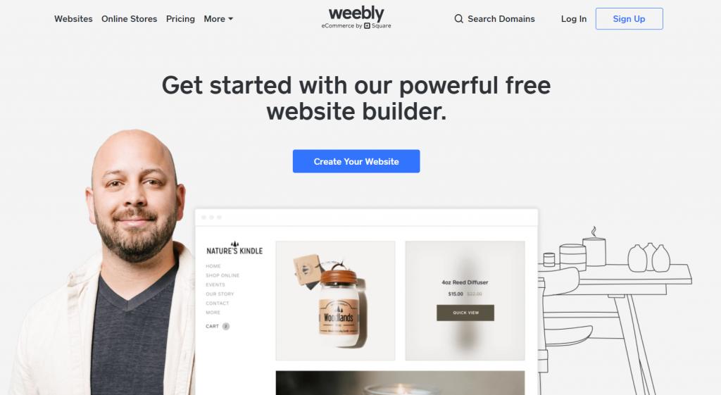 Weebly, the freemium website builder.