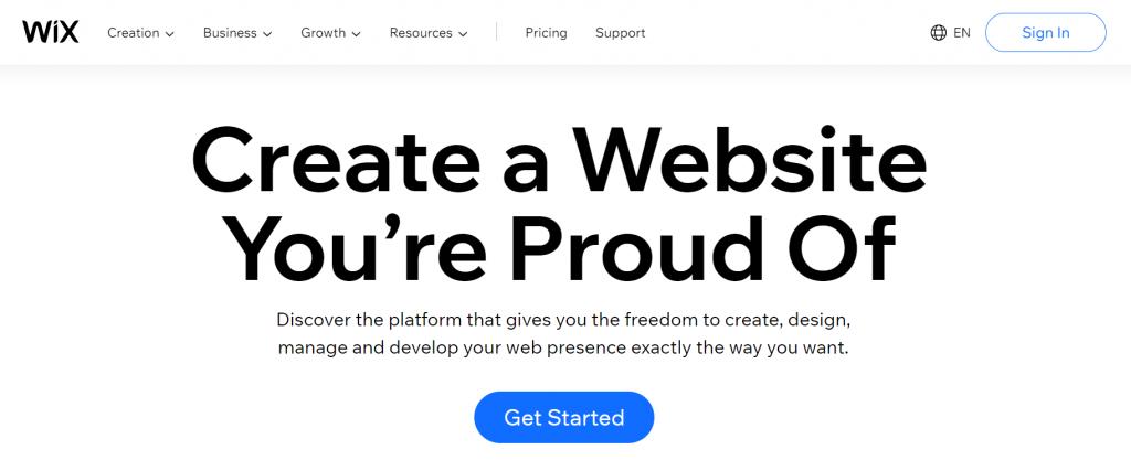 Wix, the freemium website builder.