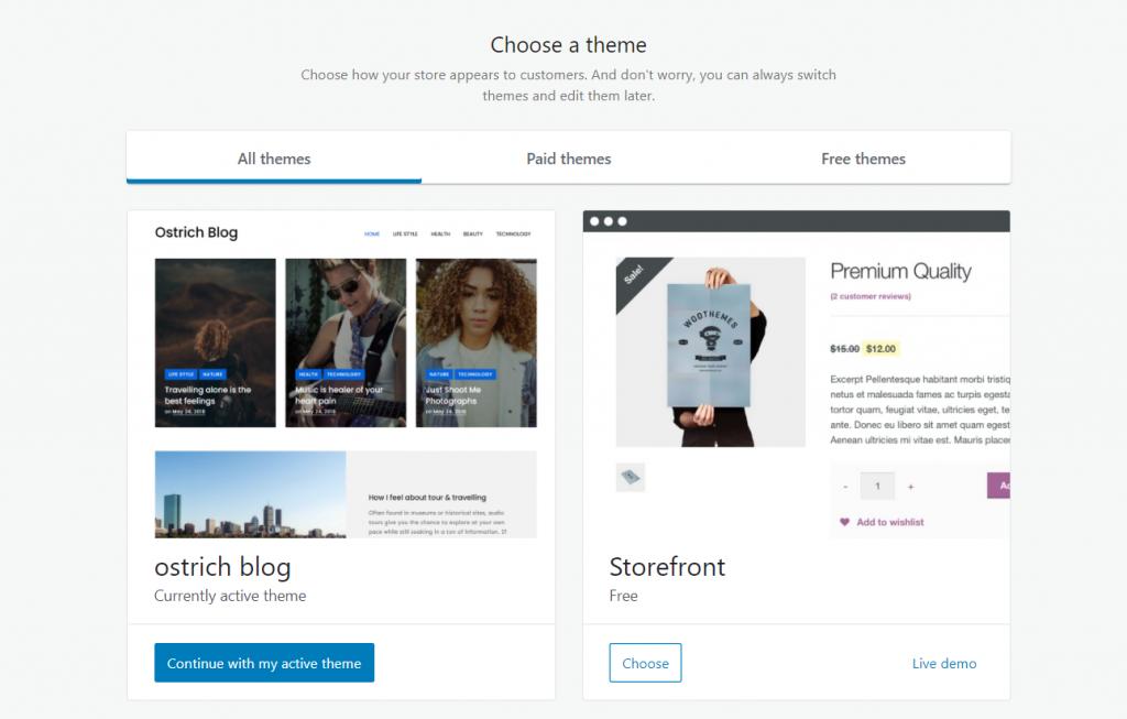 WooCommerce theme options