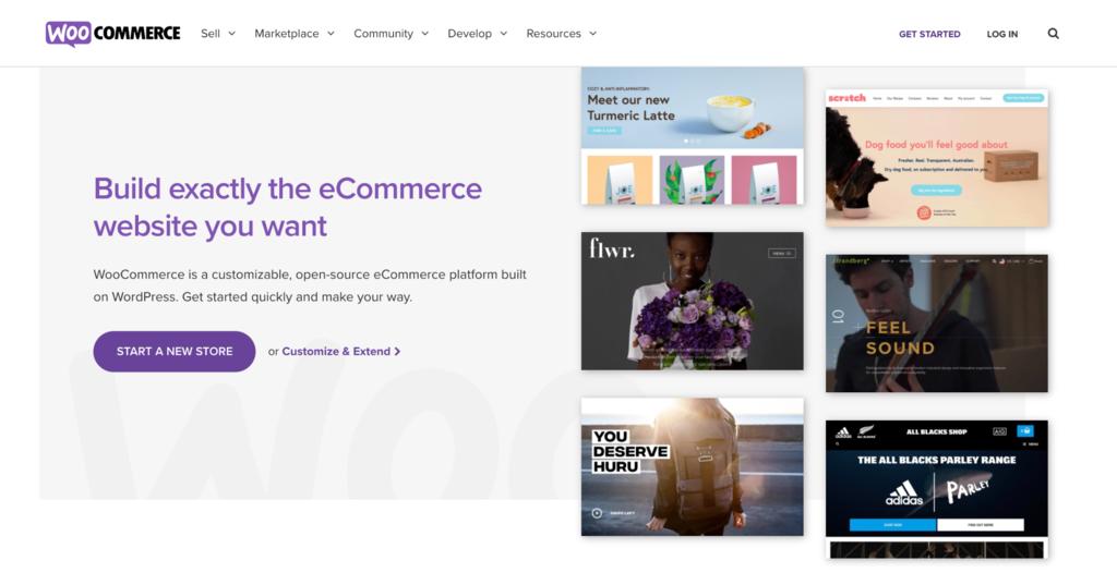 Screenshot of WooCommerce's website.