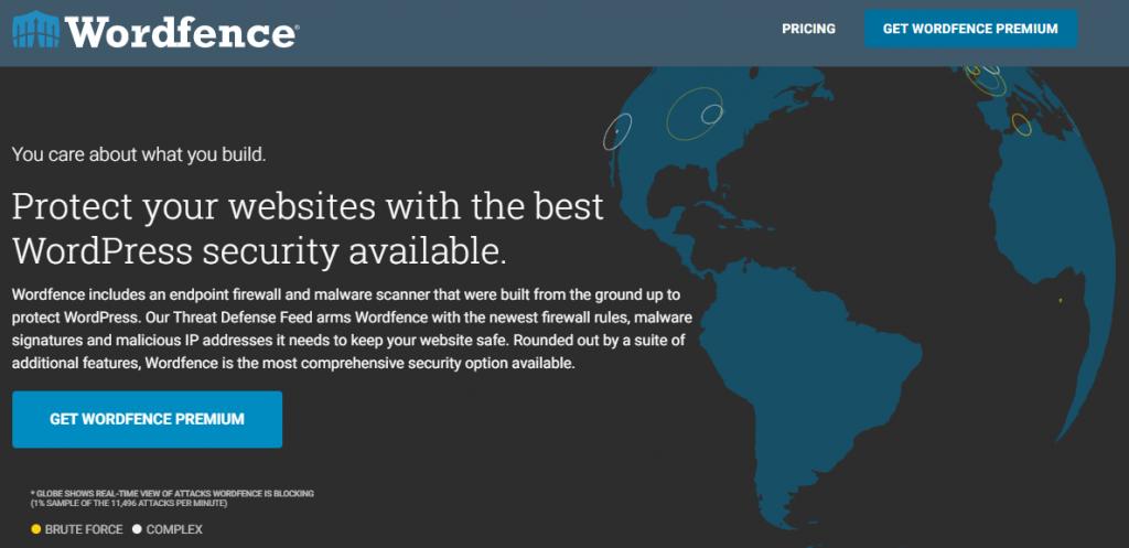 Wordfence plugin homepage