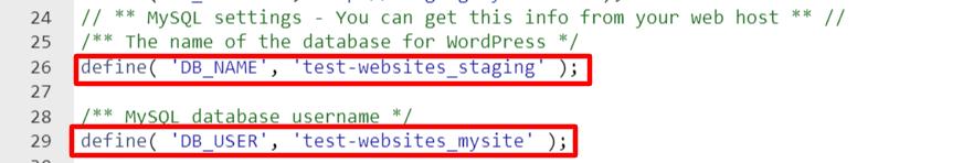 Test website staging line of code.